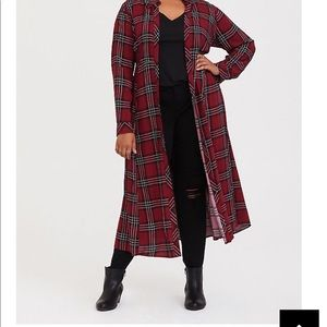 Torrid plaid overpiece